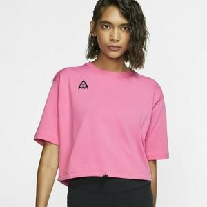 Nike ACG Short Sleeve Pink Shirt Top Small